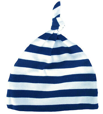 Baby Striped Hat One Knot Soft Cotton Stripey Stripes Various Colours