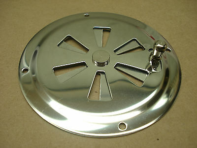 """Gem Products 774 Stainless steel 4"""" round adjustable butterfly vent ventilator"""