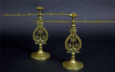 Pair Of 19Th Century Brass Pugin Candlebra Palace Of Westminister