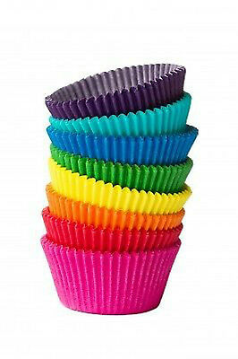 Vibrant coloured paper CUPCAKE CASES Cup Cake Choice Colour Quantity IN 12s