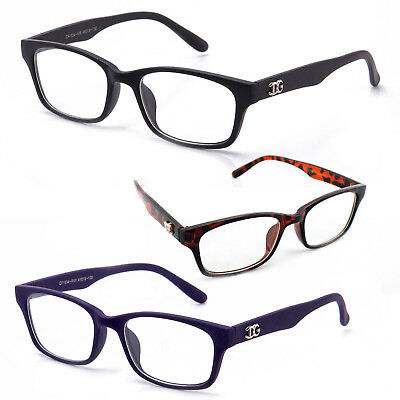 Classic and Stylish Non Prescription Clear Lens Unisex Glasses with Logo