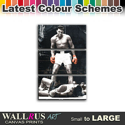 MUHAMMAD ALI Sonny Liston Boxing Canvas Print Framed Photo Picture ...