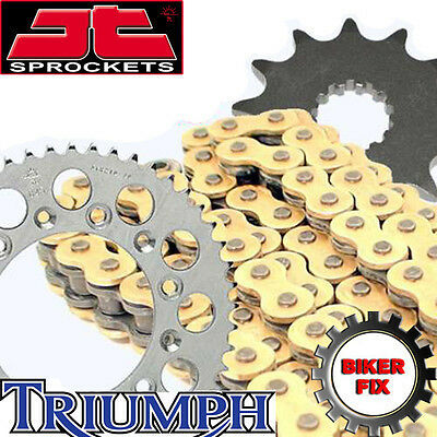 GOLD X-Ring Chain & and Sprocket Set Kit TRIUMPH 955 Sprint ST 99-04