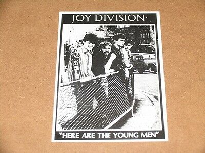 JOY DIVISION HERE ARE THE YOUNG MEN /// POSTCARD Underground