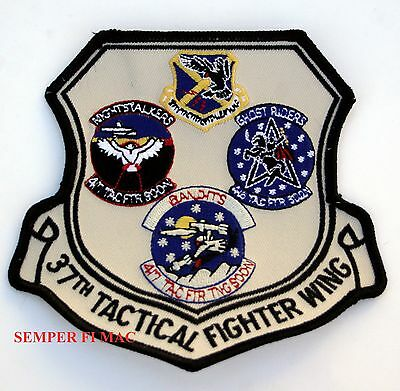 37th TFW Tactical Fighter Wing PATCH US AIR FORCE PIN UP 415 416 417 TFS AFB WOW