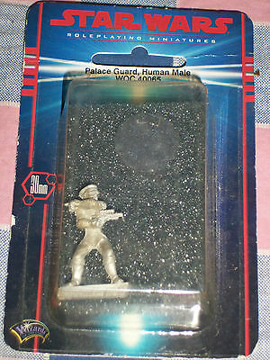 Star Wars Roleplaying Miniatures Palace Guard Human M 40065 Pewter 30mm Unopened