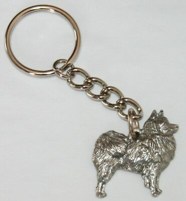 American Eskimo Dog Fine Pewter Keychain Key Chain Ring