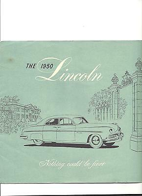 """1950 Brochure Lincoln """" Nothing could be finer"""""""