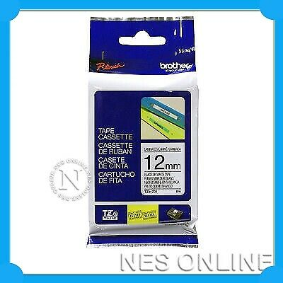 2x GENUINE Brother P-Touch Black on White 12mm TZ231 TZ-231 Tape (TWIN PACK)