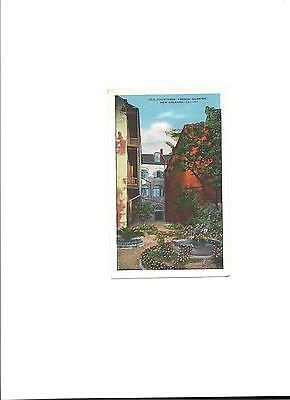 1935 Postcard Old Courtyard, French Quarter New Orleans, LA