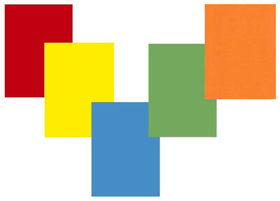 50 SHEETS BRIGHT MIX COLOURED A4 CARD 160gsm 5 x10 RED BLUE GREEN YELLOW ORANGE