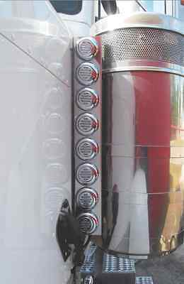 Peterbilt 379 Front Air Cleaner Light Bars With 16 Flatline LED Lights 1993-2004