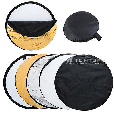 "32"" 80cm 5 in 1 Multi Photo Photography Studio Disc Collapsible Light Reflector"