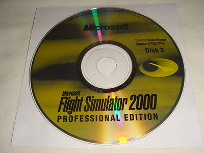 Replacement Disc 3 ONLY for Microsoft Flight Simulator 2000 PC CD Computer game