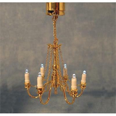 12th Scale Dolls House 3V LED Grand Chandelier & Battery