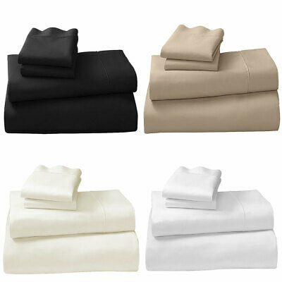 SHEET SET MICROFIBRE CVC COTTON QUEEN or KING SIZE BED BY LAURA HILL
