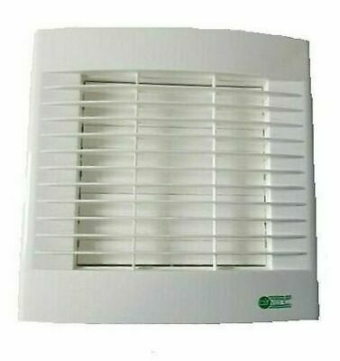 "Airvent Kitchen Extractor Fan 6"" 150mm Timer & Auto Shutters - Made At Vent Axia"
