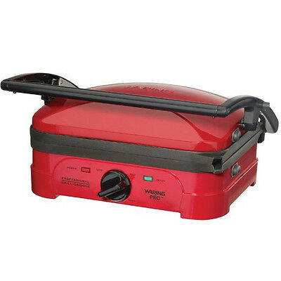 New Waring Pro Grill Panini Maker WGG500RQ Griddle - Red