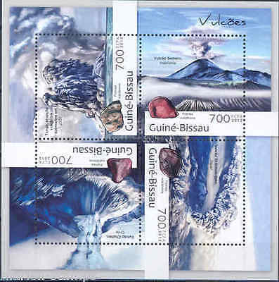 Guinea Bissau 2012 Volcanoes Of The World Sheet Mint Never Hinged