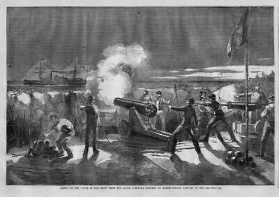 Civil War Ship Star Of The West Being Fired Upon, Morris Island, South Carolina