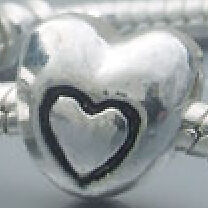 HEART SPACER BEAD FIT CHARM BRACELET4 GET 5TH FREE#779