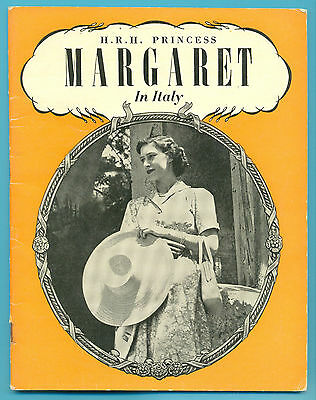 H.r.h.princess Margaret In Italy.32 Page Book Published 1949