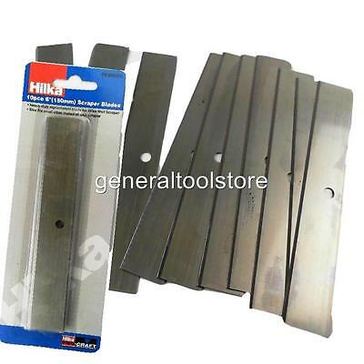 """Hilka 150 Mm 6"""" Scraper Blades Pack Of 10 For Wall Scrapers Paint Wall Paper"""