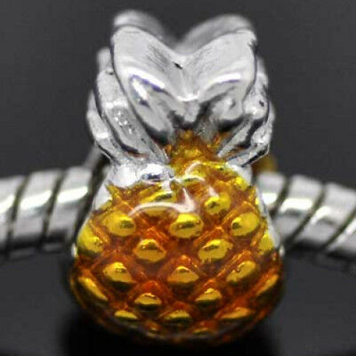 PINEAPPLE SPACER BEAD FIT CHARM BRACELET BUY 4 GET 5TH FREE 370