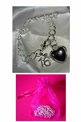 16th Birthday Bracelet Silver Plated Charm Bracelet 16th Charm Bracelet