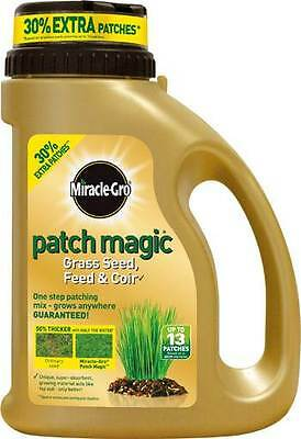 Miracle Gro Patch Magic Grass Seed Feed & Coir 1.015Kg Shaker Jug - New
