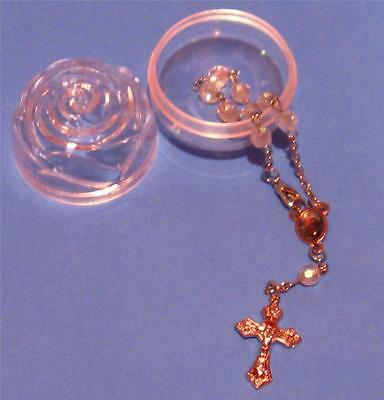 St. Christopher Auto Rosary with Clasp One Decade with Rosebud Case Bracelet