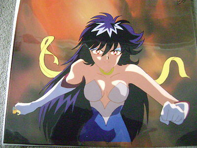 Cutey Honey F Go Nagai Anime Production Cel With Douga Sketch And Background