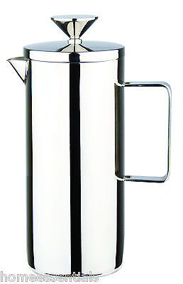 Grunwerg 3 Cup Deluxe Single Wall Coffee Maker Plunger Mirror 18/10 Steel CPS04M