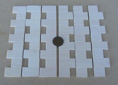 1:12 Dolls House Miniature Mouldings 2x Wooden Quoin Corner Stones Strips DIY