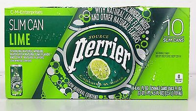 Perrier Lime Sparkling Natural Mineral Water 10 pack