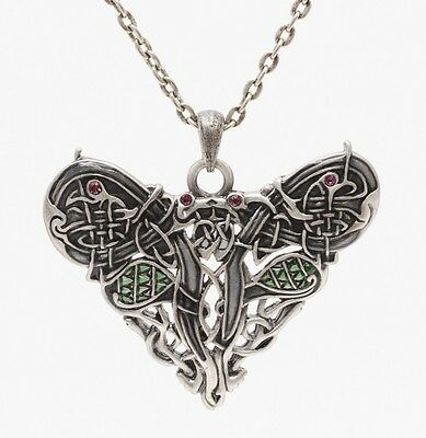 Celtic Dragon Art Nouveau Style Necklace Pendant.pewter Jewelry.new