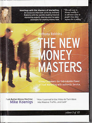 Tony Robbins The New Money Masters with Mike Koenings Vol. 3 -- NEW DVD