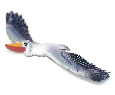 AAA 96427 Posable Pelican in Flight Model Toy Bird Figurine Replica - NIP