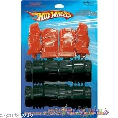 (4) HOT WHEELS PLASTIC CAR POPPERS ~ Birthday Party Supplies Favors Racing Gifts