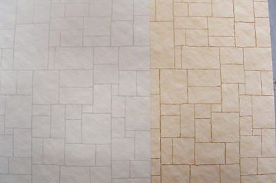 1:12 Dolls House Quality Card Minster Stone Paper A3 (29.7cm x 43cm) Wallpaper