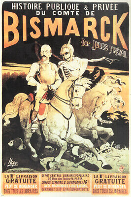 The HISTORY of COUNT BISMARK vintage ad poster by HOPE France 1883 24X36 rare