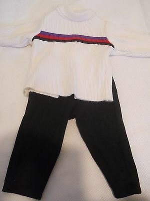 Authentic Pleasant Company American Girl Ribbed Turtleneck Sweater & Black Pants