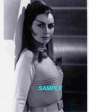 Space: 1999 Catherine Schell as Maya Leaning Against Wall 8x 10 Photo