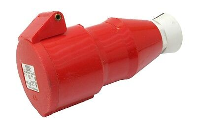 Hubbell C520C6S 240/415VAC 20 Amp Pin & Sleeve Connector Receptacle