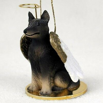 Belgian Tervuren Dog ANGEL Tiny One Ornament Figurine Statue