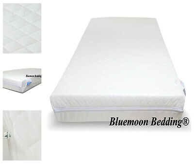 Baby Toddler Cot Bed Breathable QUILTED Foam Mattress All Size UK Safty Approved