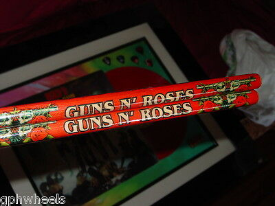 GUNS N ROSES DRUM STICK DRUMSTICK SET Welcome to the Jungle -RED