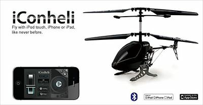 iCONCOPTER iCON BLACK HELICOPTER BLUETOOTH WIFI CONTROL IPHONE IPAD ANDROID