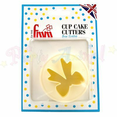 FMM Double-sided Cupcake Icing Cutter -BOW & SCALLOP- Sugarcraft Cake Decorating