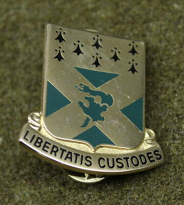 15882) US 201st Engineer Battalion Insignia DI Pin Crest Medal Badge Military